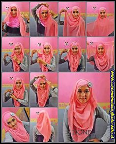 30 Hijab Fashion Tutorial Selama Ramadhan 13
