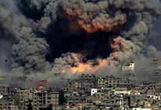 New photo from Gaza today looks like actual hell on earth (Palestine).