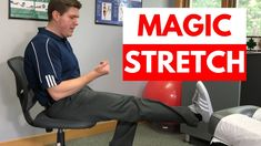 Here's not one, but two, SCIATICA STRETCHES for instant pain relief that are so GOOD you'll think they're MAGIC! If you want fast sciatic nerve pain relief, this is a video you won't want to miss. Watch now and take one step towards better health! Sciatica Stretches, Sciatica Pain Relief, Sciatic Nerve, Nerve Pain, Chiropractic Center, Kenko, Better Health, Health Benefits, Helpful Hints
