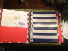 DIY Nanny binder w/ links to developmental activities