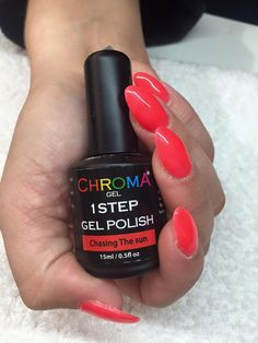 Chroma Gel 1 Step - the fastest gel polish application now available from Chroma Gel #chromagel #1stepgelpolish #fastestgelpolish #gelpolish #bigcolourrange #tryitloveit
