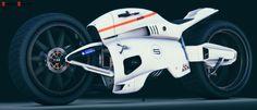 3/4 Back Ducati Draven Concept Maya model done zbrush time