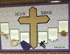 Lent Religious Bulletin Boards, Bible Bulletin Boards, Easter Bulletin Boards, Christian Bulletin Boards, Interactive Bulletin Boards, Classroom Bulletin Boards, Faith Crafts, Bible Crafts, Catholic Lent