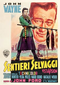 "Movie Posters:Western, The Searchers (Warner Brothers, 1956). Italian 2 - Foglio (39.5"" X55"").. ... Image #1"
