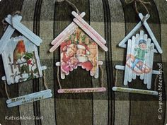 Christmas Decorations Sewing, Easy Christmas Crafts, Easter Crafts For Kids, Christmas Wood, Crafts For Teens, Christmas Projects, Christmas Ornaments, Popsicle Crafts, Craft Stick Crafts