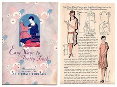Vintage Art Deco 1920s Dressmaking Ebook - Easy Ways to Pretty Frocks - Dress Pattern Flapper  Lingerie Craft Millinery Costume Design
