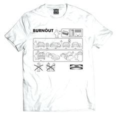 BURNÖUT Shirt - White | 101-squadron