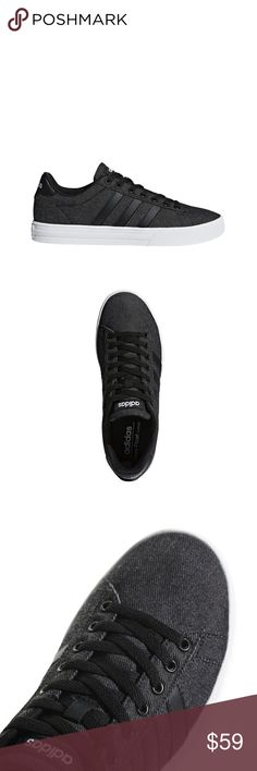 online store dd491 d4aca NEW ADIDAS MENS DAILY 2.0 BLACK CANVAS SHOE DB028 NEW ADIDAS MENS DAILY  2.0 BLACK CANVAS