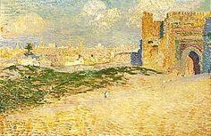 Théo van Rysselberghe The door of Monsour Hay in Meknes, Morocco 1887