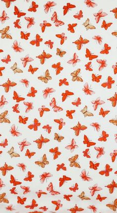 Retro Wallpaper Discover Cotton Fabric PINK BUTTERFLIES jules & coco fabric One Yard red orange pink butterflies on white Fun Fabric for Creative Genius Projects Butterfly Wallpaper Iphone, Iphone Wallpaper Vsco, Watch Wallpaper, Homescreen Wallpaper, Iphone Background Wallpaper, Retro Wallpaper, Aesthetic Pastel Wallpaper, Aesthetic Wallpapers, Orange Wallpaper