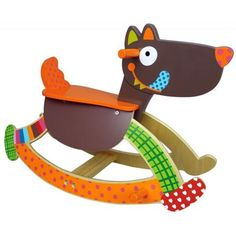 Rutscher Maus aus Holz Moulin Roty Les Jolis trop beaux in hellgrau Wood Crafts, Diy And Crafts, Arts And Crafts, Wooden Ride On Toys, Rock Around The Clock, Wood Toys Plans, Baby Chair, Kids Swing, Wooden Horse