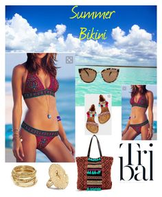 """""""Summer bikini"""" by adelle213 on Polyvore featuring ABS by Allen Schwartz and Quay"""