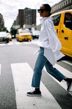 Street Style de New York Fashion Week Primavera Verano 2016 Italian Street Style, Berlin Street Style, Best Street Style, Street Style Outfits, Model Street Style, Estilo Blogger, Trendy Outfits, Fashion Outfits, Fashion Tips