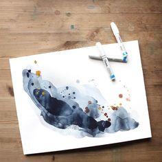 Abstract Watercolor Painting / Amanda Michele Art