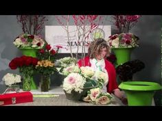 "December is Mandy Majerik's last ""The Art of Flowers"" design video.  Using ilex branches, Peacock Kale, rosette kale, Red Paris roses, Cool Water roses, Green Trick dianthus, and red amaryllis Mandy creates two beautiful large floral arrangements to place on either side of your client's front door - perfect for this holiday season.    Happy Holida..."
