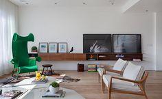 Tríplex assinado pela Intown Arquitetura tem seleção modernex de design com superview da Cidade Maravilhosa