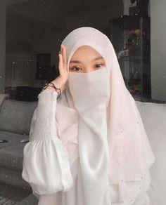 Hijab Niqab, Hijab Chic, Hijab Outfit, Moslem Fashion, Niqab Fashion, Fashion Outfits, Muslim Girls, Muslim Women, Hijab Style Tutorial