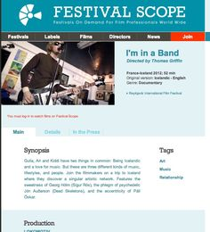 Watch the film here ! https://www.festivalscope.com/film/i-m-in-a-bandTumblr