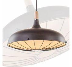 Landelijke hanglamp met rooster roestbruin Ø 45cm