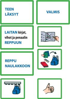Osittaminen Finnish Language, Classroom Behavior, Beginning Of School, Early Childhood Education, Classroom Organization, Special Education, Self Help, Teacher, Activities