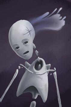 A skeleton leaking it's soul? hmm...