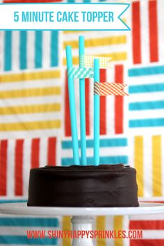 everyday celebrations- five minute cake topper