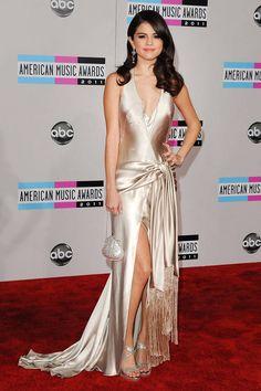 She rocks a satin Giorgio Armani at the 2011 American Music Awards.    - ELLE.com