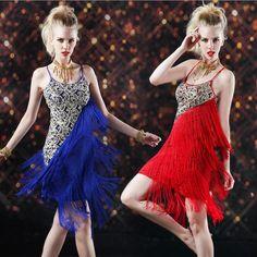 Encontrar Más Salón Información acerca de 6 Colors moda 2016 nuevo de la llegada traje de la danza latina Salsa Samba vestido franja salón de baile de Tango vestido de baile latino mujeres, alta calidad vestido de 90, China se visten como hombres modelo Proveedores, barato vestido para arriba cuentas de Dancewear Ballet Cosplay Costume en Aliexpress.com