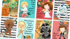 Star Wars Stickers, Printable Planner Sticker Kit, ECLP, Erin Condren Life Planner, Vertical Weekly Kit, 3 Pages, Floral, StarWars