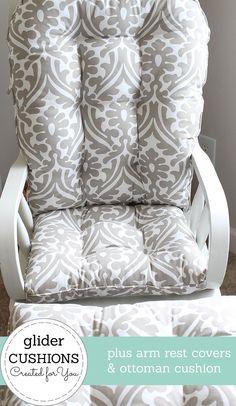 Chair Cushions/ Glider Cushions/ Rocking Chair Cushions/ | Etsy Glider Replacement Cushions, Glider Rocker Cushions, Rocking Chair Cushions, Seat Cushions, Chair Pillow, Bed Pillows, Custom Cushions, Sit On Top, Cushion Fabric