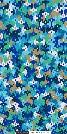 'SeaGlass' Seamless Pattern by Russfuss #patterndesign #surfacepattern #fabricdesign #textiledesign #patternprint #geometry #iphonewallpaper #generative #padrões #cadernos #geometria #diseño