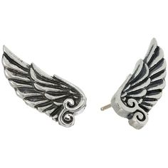 King Baby Studio Wing Post Earrings Earring (585 RON) ❤ liked on Polyvore featuring jewelry, earrings, silver, earrings jewelry, post earrings, wing jewelry, wing earrings en king baby studio jewelry