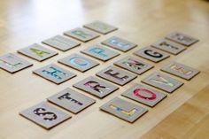 Tutorial lettere in cartone e stoffa