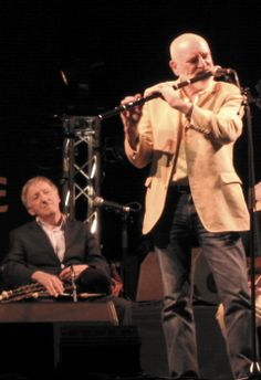 The Chieftains, Matt Molloy is playing the Irish Flute and Paddy Moloney (Leader) is sitting in the background with his Uilleann Pipes. Irish Flute, Irish Dance, Live Music, My Music, Irish Celtic, Band Rooms, Irish Culture, Celtic Music, Musica