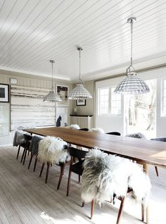 Stine Langvad | The Design Chaser... Love this Scandi inspired dining room