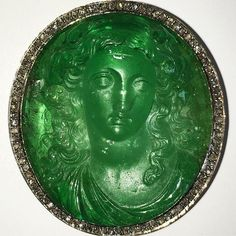 Spectacular antique carved emerald brooch, formerly the property of the Princess Lobanoff de Rostoff. Part of our Magnificent jewels auction, Geneva 15 November. @christiesjewels @christiesinc #christiesjewels #christiesinc #christies #christies250 #antique #emerald #brooch #muzo #colombia #royaljewels