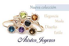 Nueva colección de anillos, con diseños combinables en piedras preciosas #Topacio #Aguamarina #Amatista #Citrina