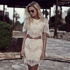 Trendy lace #skirt