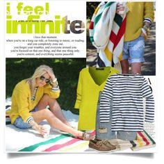 A fashion look from February 2015 featuring striped sailor shirt, short sweater and vneck cardigan. Browse and shop related looks.