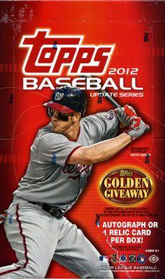 2012 Topps Update Baseball Cards Box