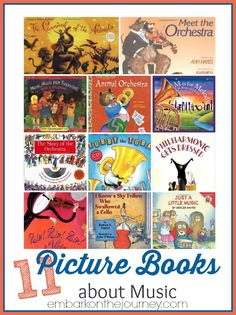 Strike up the band. Grab the pots and pans. Read one of these picture books about music, and march around the living room making music of your own! Preschool Music, Preschool Books, Music Activities, Teaching Music, Preschool Activities, Kindergarten Music, Music Classroom, Music Teachers, Elementary Music