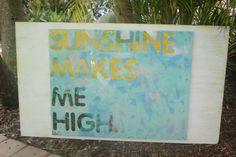 Sunshine Makes Me High by artbylorilynn on Etsy, $375.00