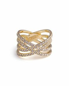 This gold and diamond ring is just beautiful.  Would look great with any outfit.