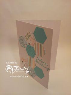 Carte de remerciement printannière mettant en vedette la perforatrice Hexagonale de Stampin Up