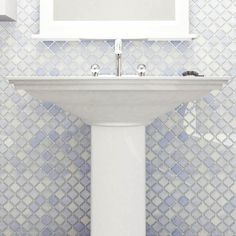 """Found it at Wayfair - Pharsalia 2"""" x 2.25"""" Porcelain Mosaic Tile in Frost Blue"""