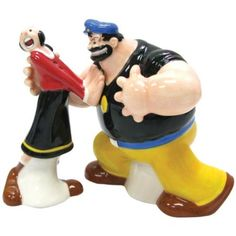Brutus and Olive Oyl Salt and Pepper Shaker
