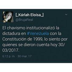 Algunas consideraciones sobre los hechos políticos de los últimos días. La única conclusión es que es triste ver que #Venezuela repite y repite la lección porque la mayoría no termina de aprender. A veces siento que es un #TBT eterno que nos hace revivir el 2014... Todo comienza en la calidad de lo que compartimos y la intención con que lo hacemos.  #ElMedioEresTú #misdatos #comunicación #comunicaciones101#PeriodismoCiudadano #ResponsabilidadSocialCiudadana #ComunicaciónResponsable #política…