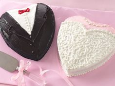 Betty Crocker, cute bride and groom shower cakes.