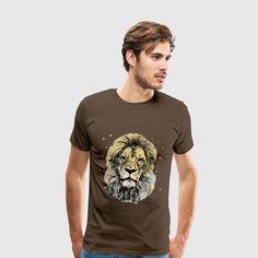 King Lion, Löwe Safari, Afrika Safari, Illustration, Mens Tops, Fashion, Africa, Moda, La Mode, Illustrations, Fasion