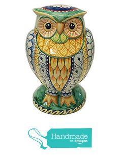 CERAMICHE D'ARTE PARRINI - Italian Ceramic Art Pottery Big Owl Animals Painted Deruta Made in ITALY Tuscan from CERAMICHE D'ARTE PARRINI since 1979 https://www.amazon.com/dp/B018Y2C6OS/ref=hnd_sw_r_pi_dp_9Qjazb78S47TM #handmadeatamazon